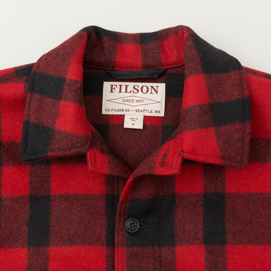 Filson Mackinaw Wool Cruiser Jacket Red Black Plaid Image #1