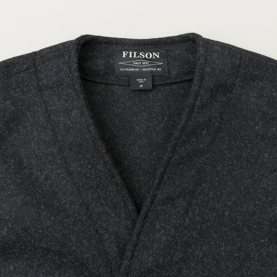 Filson Mackinaw Wool Vest Charcoal Image #1