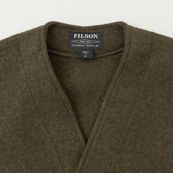 Filson Mackinaw Wool Vest Forest Green Image #1