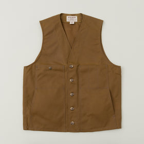 Filson Oil Tin Cloth Vest Tan Image #1