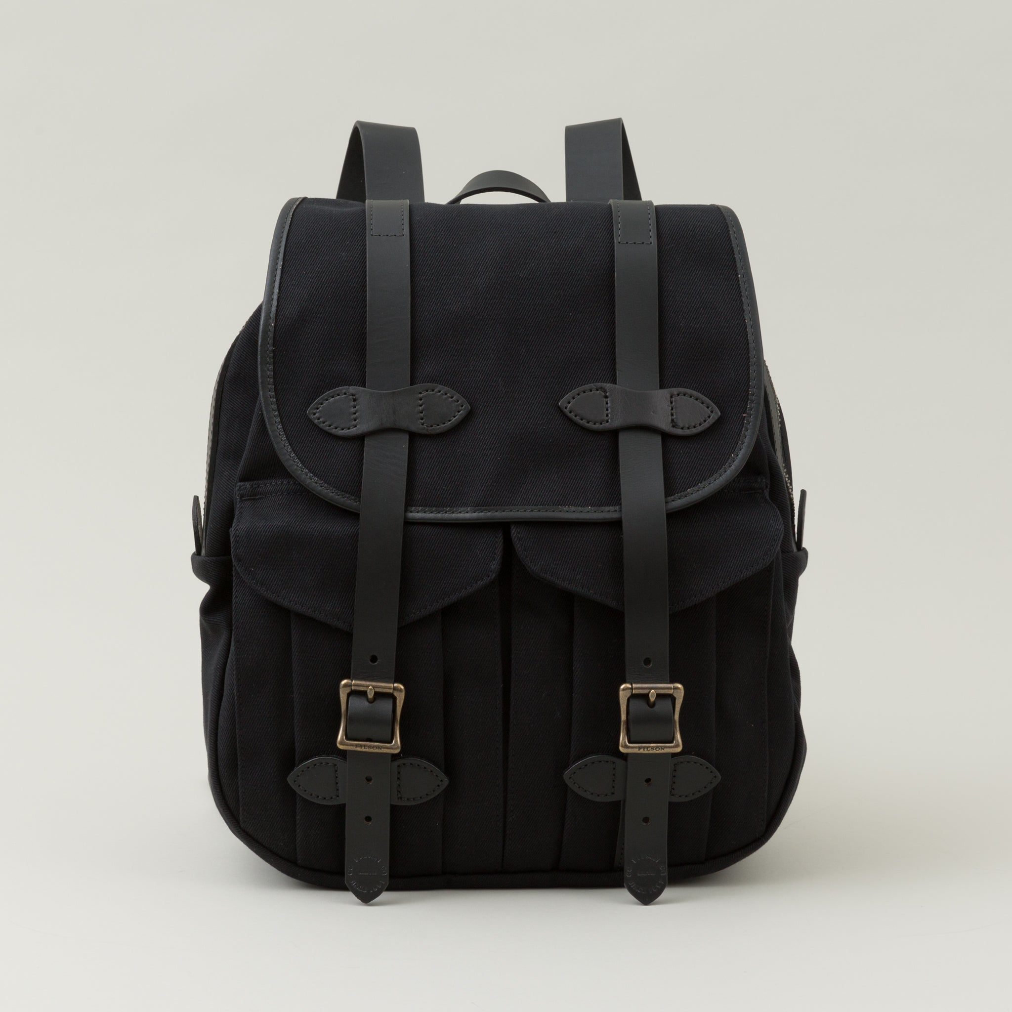 Rugged Twill Rucksack, Black - The Stronghold 91fc99b5e3