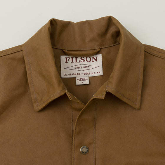 Filson Tin Cloth Cruiser Jacket Dark Tan Image #1