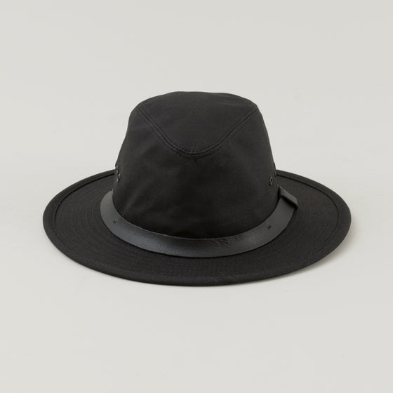 Filson Tin Cloth Packer Hat Black Image #1