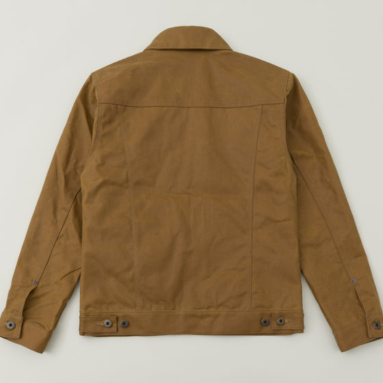 Filson Tin Cloth Short Lined Cruiser Jacket Dark Tan Image #1
