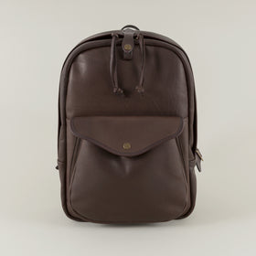 Weatherproof Leather Journeyman Backpack, Sierra Brown