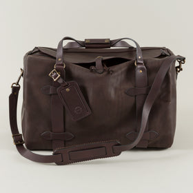 Weatherproof Leather Medium Duffle Bag, Sierra Brown