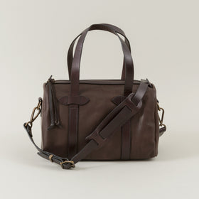 Weatherproof Leather Satchel Bag, Sierra Brown