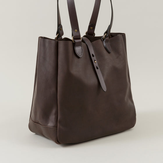 Weatherproof Leather Tote Bag, Sierra Brown