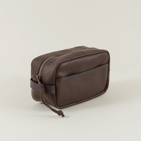 Weatherproof Leather Travel Kit, Sierra Brown