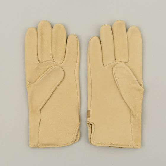 Geier Glove Deerskin Strap Gloves Natural Image #1