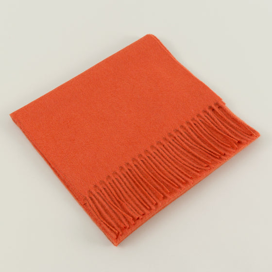 Classic Cashmere Scarf, Orange