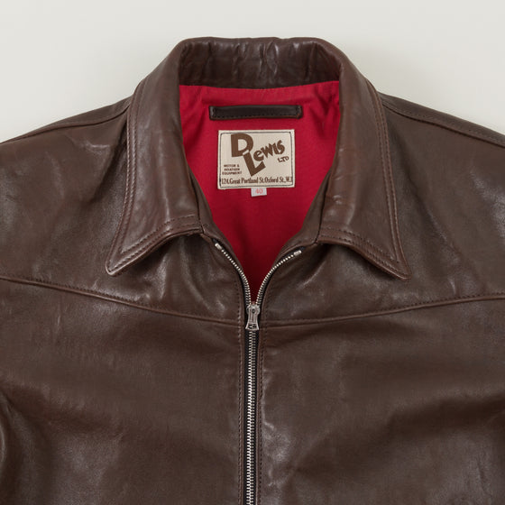 Lewis Leathers The Countryman 385 Dark Brown Sheepskin Image #1