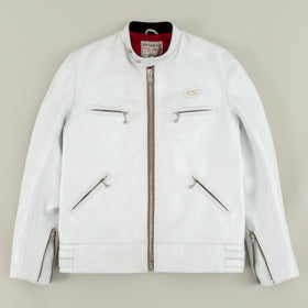 Lewis Leathers The Super Sportsman 68 White Horsehide Image #1