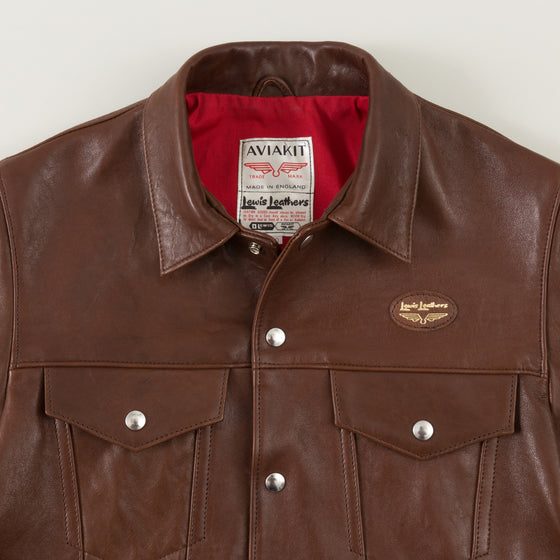 Lewis Leathers The Western 988 Ranch Brown Sheepskin Image #1
