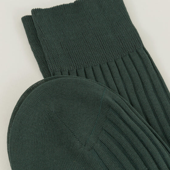 Pantherella Danvers Socks Dark Green Image #1
