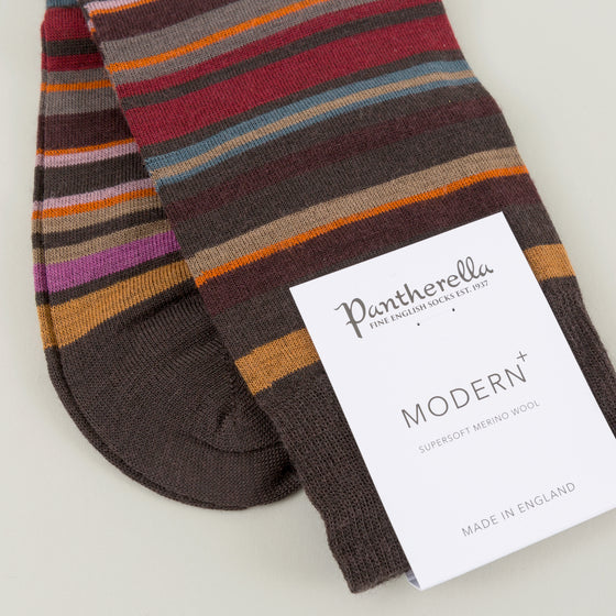 Pantherella Quakers Socks Chocolate Image #1