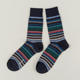 Pantherella Quakers Socks Navy Image #1