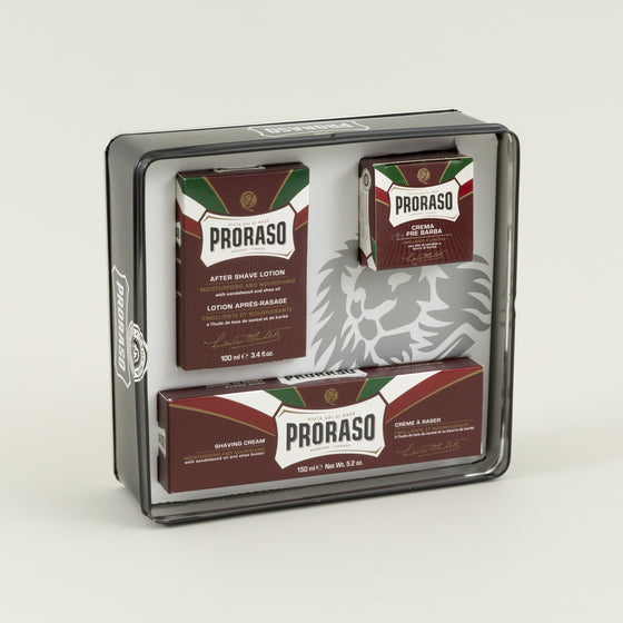 Proraso Vintage Artwork Tin Box Set Moisturizing Nourishing Image #1