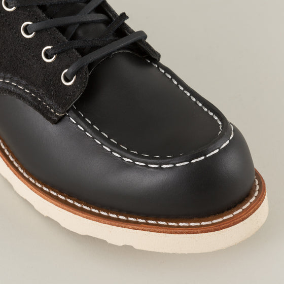 Classic Moc Toe Boot, Two-Tone Black Roughout, Limited Edition