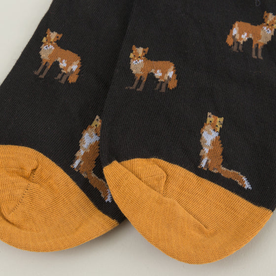 Scott Nichol Farnley Foxes Socks Black Image #1