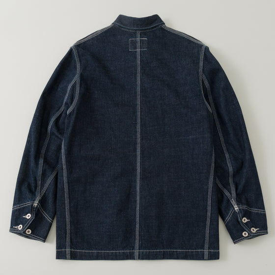 The Stronghold Chore Coat 10 5 Oz Indigo Selvage Denim Image #1