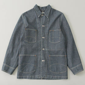 The Stronghold Chore Coat 12 5 Oz Herringbone Selvage Denim Image #1