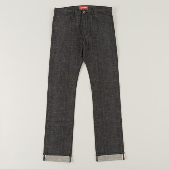 The Stronghold Jeans Slim Straight 10 5 Oz Black Selvage Denim Image #1