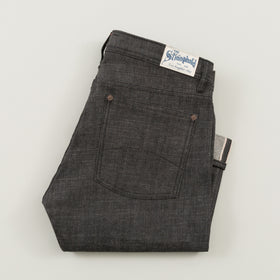 The Stronghold Jeans Slim Tapered 10 5 Oz Black Selvage Denim Image #1