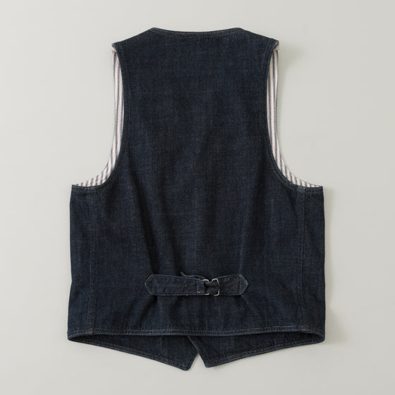 The Stronghold Lapel Vest 10 5 Oz Indigo Selvage Denim Image #1