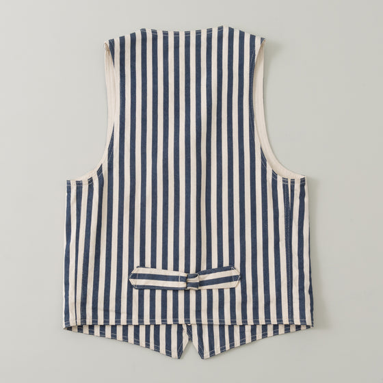 The Stronghold Lapel Vest 11 Oz Wide Stripe Selvage Denim Image #1