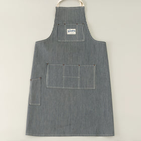 The Stronghold Long Bib Apron 11 5 Oz Hickory Stripe Selvage Denim Image #1