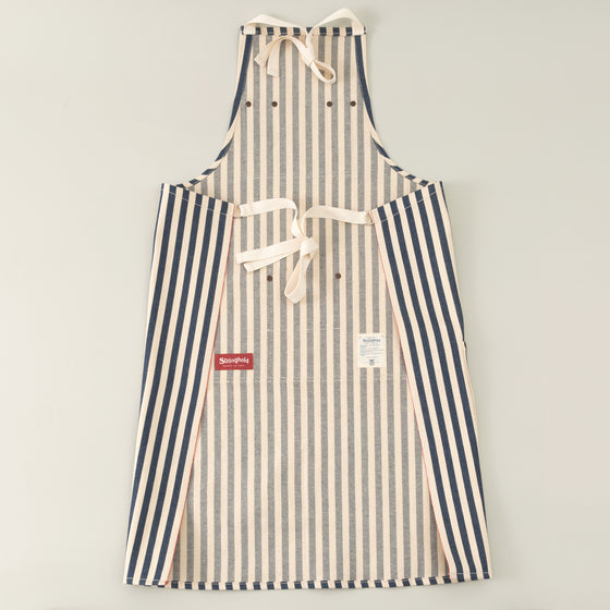 The Stronghold Long Bib Apron 11 Oz Wide Stripe Selvage Denim Image #1