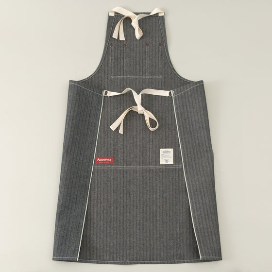 The Stronghold Long Bib Apron 12 5 Oz Herringbone Selvage Denim Image #1