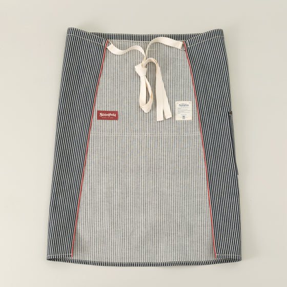 The Stronghold Long Bistro Apron 11 5 Oz Hickory Stripe Selvage Denim Image #1