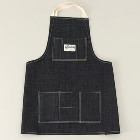 The Stronghold Short Bib Apron 10 5 Oz Indigo Selvage Denim Image #1