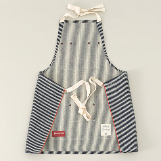 The Stronghold Short Bib Apron 11 5 Oz Hickory Stripe Selvage Denim Image #1