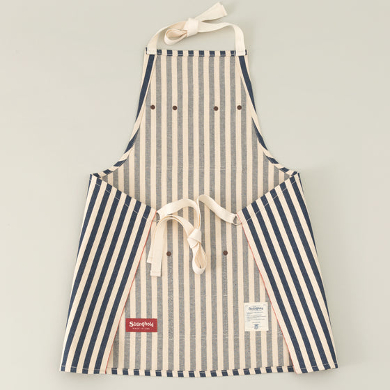 The Stronghold Short Bib Apron 11 Oz Wide Stripe Selvage Denim Image #1