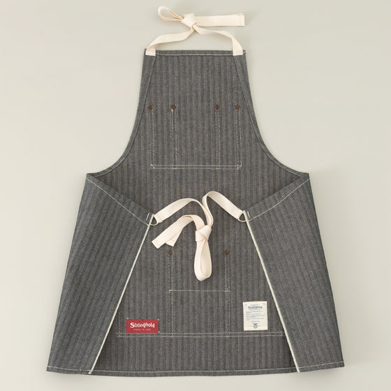 The Stronghold Short Bib Apron 12 5 Oz Herringbone Selvage Denim Image #1