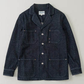 The Stronghold Work Jacket 10 5 Oz Indigo Selvage Denim Image #1