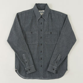 The Stronghold Work Shirt 3 75 Oz Black Selvage Chambray Image #1