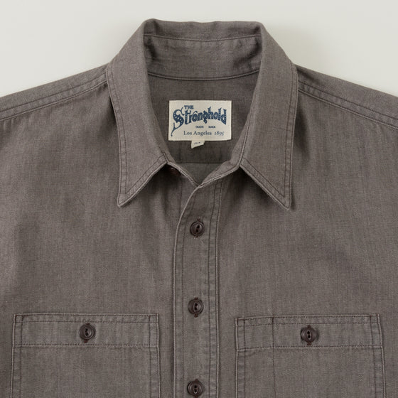 The Stronghold Work Shirt 3 75 Oz Brown Selvage Chambray Image #1
