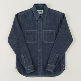 The Stronghold Work Shirt 9 Oz Indigo Selvage Denim Image #1