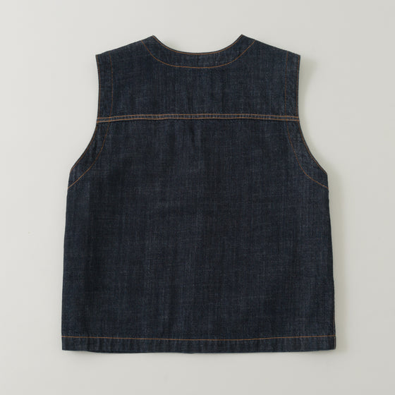 The Stronghold Work Vest 10 5 Oz Indigo Selvage Denim Image #1