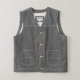 The Stronghold Work Vest 12 5 Oz Herringbone Selvage Denim Image #1