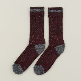 Wigwam Fireside Wool Socks Burgundy Image #2