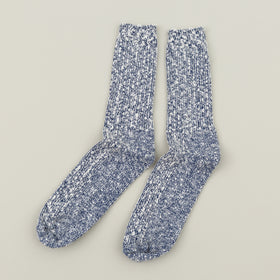 Wigwam Marled Cotton Socks Navy Image #2