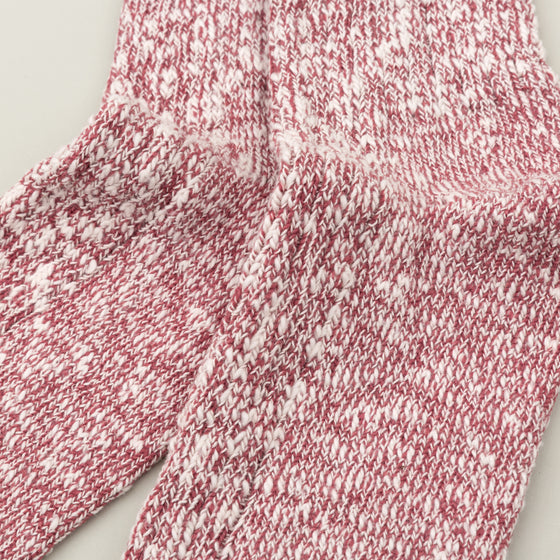 Wigwam Marled Cotton Socks Red Image #2
