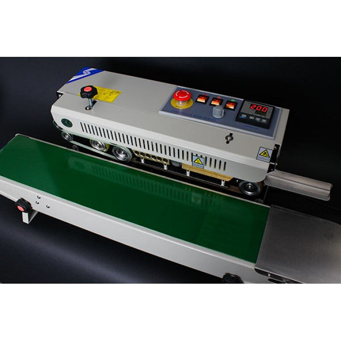 RSH1525SS - STAINLESS STEEL HORIZONTAL TABLETOP BAND SEALER W/ ANALOG THERMOMETER