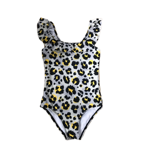 LEOPARD FRILL ONE PIECE