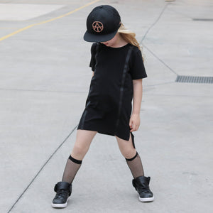 Strapped Up Dress - Black - YNG.BLD
